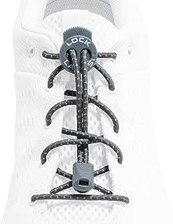 LOCK LACES Reflective 2-Pack (Elastic No Tie Shoelaces)