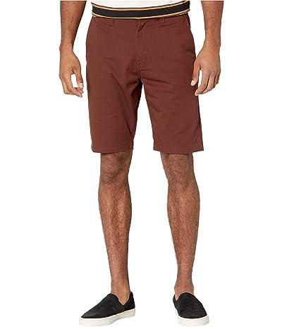 Volcom Frickin Modern Stretch Chino Shorts (Mahogany) Men