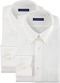 [スティングロード] ワイシャツ パーフェクトノーアイロン 長袖ボタンダウン 2枚セット 超形態安定 ストレッチ レギュラーフィット ニットシャツ ST2000-AM-2 メンズ ホワイト 首回り41cm裄丈80cm