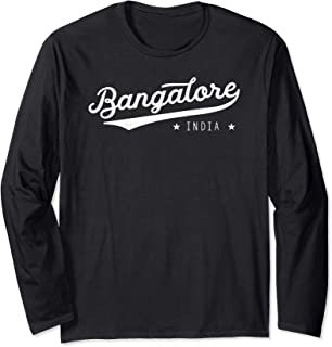 Classic Vintage Retro Bangalore India Bengaluru Gift Long Sleeve T-Shirt