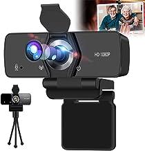 IPXOZO Webcam with Microphone,1080P HD Webcam USB Web Camera for Desktop/Computer,HD Web Cam Adjustable Video Camera with ...