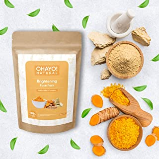 Ohayo! Brightening Face Pack 100gm | Multani Mitti, Turmeric | 100% Natural | Healthy Glow | Removes Tanning, Tones Skin |...
