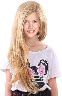 Tangled Rapunzel Wigs for Kids Girls Long Blonde Princess Children Wig