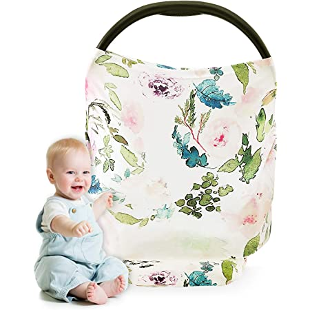 Baby Shower Gifts Carseat Canopy for Boys and Girls Nursing Covers Multi-use Breastfeeding Cover Car Seat Covers for Babies Stretchy Nursing Scarf