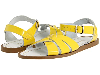 Salt Water Sandal by Hoy Shoes The Original Sandal (Big Kid/Adult) (Shiny Yellow) Girls Shoes