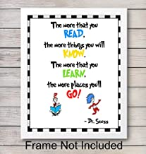 Dr. Seuss Quote - Unframed Wall Art Print - Motivational - Makes an Easy Affordable Gift - Perfect Home Decor for Nursery, Girls or Boys Room - Ideal Classroom Display - Ready to Frame (8x10) Photo