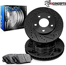 For 4Runner,Tacoma,FJ Cruiser,Hilux Front Black Brake Rotors+Ceramic Pads