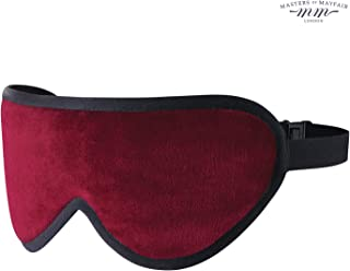 Luxury Sleep Eye Mask - Silk & Lavender infused sleeping mask for men or women to help you sleep longer and deeper. Using only the best natural fabrics for maximum comfort. (Burgundy)
