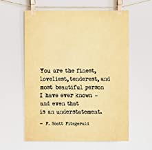 Great Gatsby Quote Print, Fine Art Cotton Paper, Sizes 5x7-12x16 **Unframed**