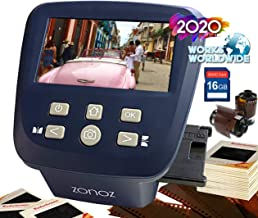 $159 » zonoz FS-Five Digital Film & Slide Scanner - Converts 35mm, 126, 110, Super 8 & 8mm Film Negatives & Slides to JPEG - Includes Large Bright 5-Inch LCD, Easy-Load Film Inserts Adapters (16GB SD Card)