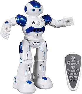 اسباب بازی ربات SGILE ، ربات کنترل از راه دور قابل برنامه ریزی برای هدیه تولد هدیه تولد ، هدیه تعاملی خواندن رقص ربات هوشمند هوشمند برای دختر بچه نو پا ، آبی