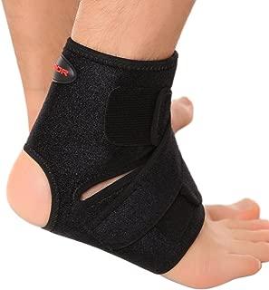 Liomor Ankle Support Breathable Ankle Brace for Running Basketball Ankle Sprain Men Women - S/M, Black.