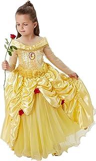 Princesas Disney - Disfraz de Bella Premium para niña, infantil 5-6 años (Rubie's 620473-M)