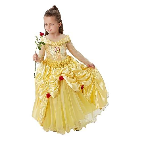 d2a8e01073ebb Rubie s Official Disney Premium Belle Girls Fancy Dress Princess Beauty  Childs Deluxe Costume - Medium