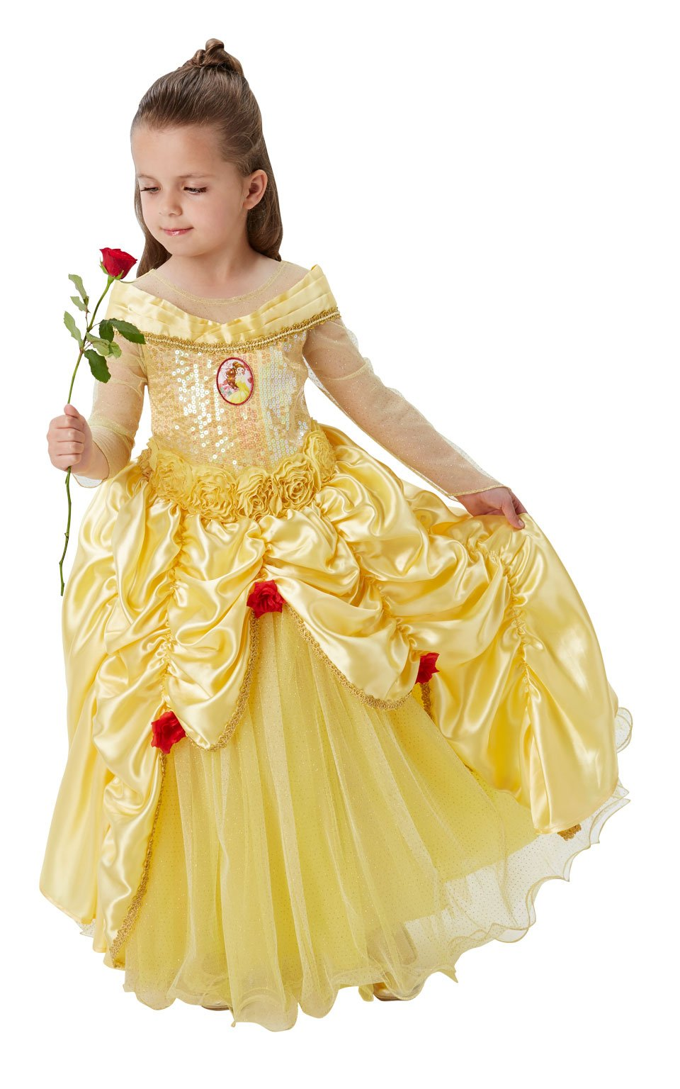 Princesas Disney - Disfraz de Bella Premium para niña, infantil 5 ...