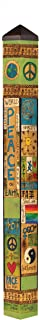 Studio M Peace and Harmony Art Pole Community Inspirational Outdoor Decorative Garden Post, Made in USA, 60 Inches Tall