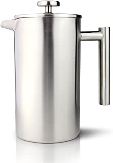 8 Cup Straight Stainless Steel Cafetiere