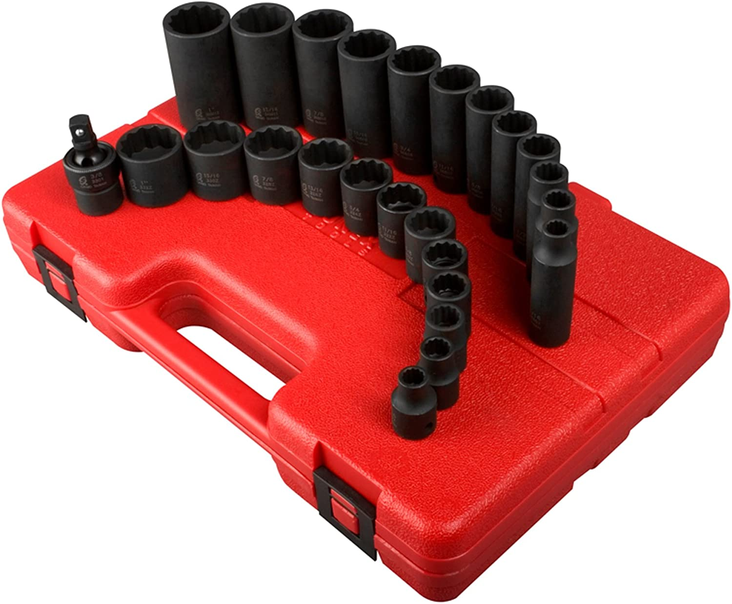 Sunex 3326 3 8-Inch Drive Outstanding 12-Point SAE 25-Pie New York Mall Socket Set Impact