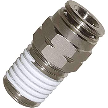 1//4 in Instrumentation x 1//8 in Female Pipe Brennan Stainless Steel Instrumentation Straight Adapter 2 Units