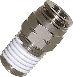 Utah Pneumatic Push To Connect Fittings Nickel-Plated Brass Pc Male Straight 1/4