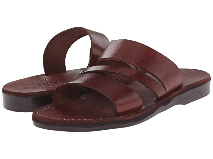 60s Shoes, Boots Jerusalem Sandals Boaz - Mens Brown Mens Shoes $78.95 AT vintagedancer.com
