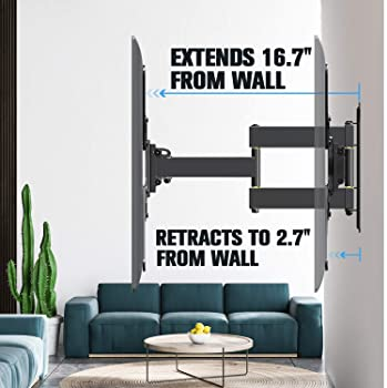 Mounting Dream UL Certificated TV Mount for Most 26-55 Inch TVs, Full Motion TV Wall Mount with Perfect Center Design...