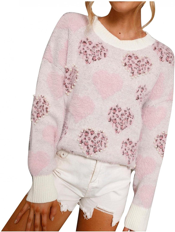 Hemlock Women Floral Sweaters Tie Dye Pullovers Long Sleeve Oversized Knit Tops Fall Outwear Knitwear