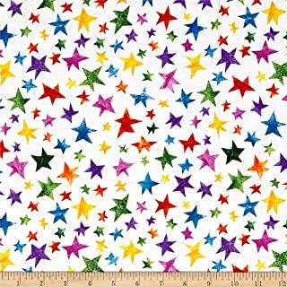 Andover The Very Hungry Caterpillar Stars Multi Fabric by The Yard