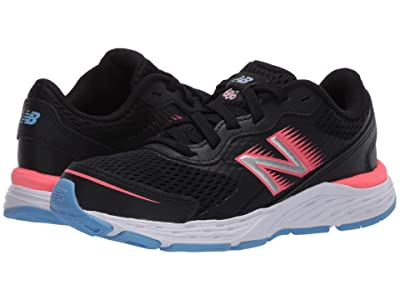 New Balance Kids 680v6 (Little Kid/Big Kid) (Black/Tahitian Pink) Girls Shoes