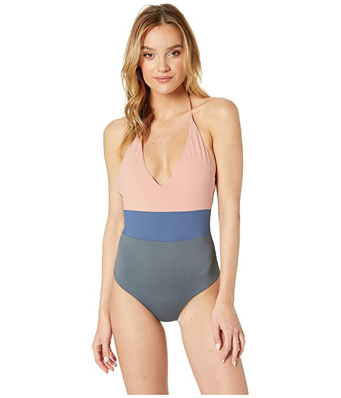 712636e96d525 Tavik Chase One-Piece Swimsuit (Desert Rose/Turbulence Grey) Women's Swimsuits  One Piece