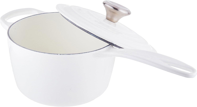 Le Creuset Enameled Cast Iron Signature Saucepan, 1.75 qt., White