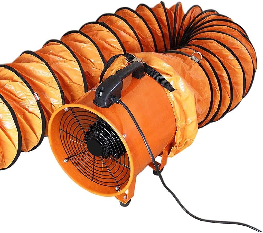 XYSQ Ventilador De Extracción De Polvo Industrial, Ventilador Extractor De Humos De Taller De Manguera De Aire Portátil De 5M, para Cultivos De Cría/Invernaderos De Flores (Color : 8in, Size : 220V)