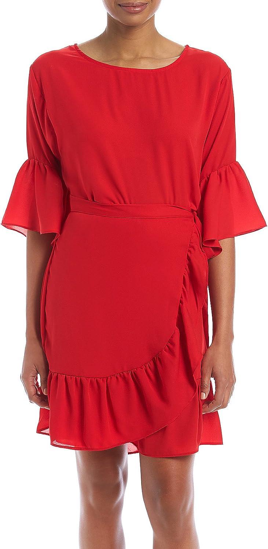 Bobeau Astrid Rio Red Apron Dress
