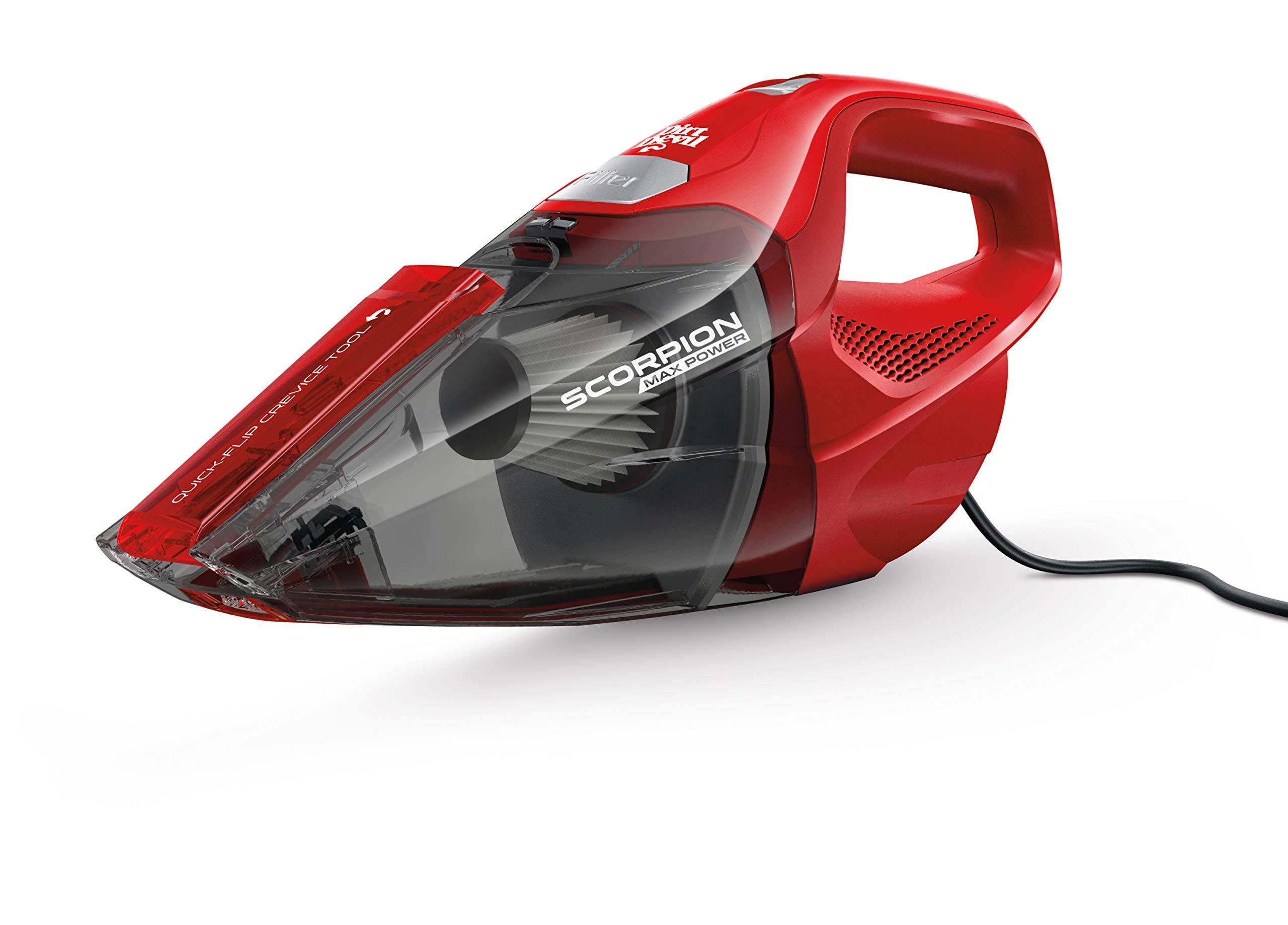 Dirt Devil Scorpion Quick Flip Sin bolsa Rojo - Aspiradora (Secar ...