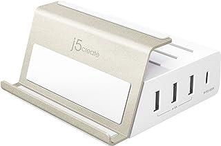 j5 create USB-C 急速充電器 4ポート 75W 【PD対応 USB-C 60W + USB-A×3 15W 最大2.4A】 スマホスタンド 横置き縦置き PD3.0対応 QC4.0対応 マルチプロテクション搭載 スマホ タブレット...
