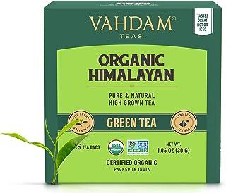 VAHDAM, Organic Green Tea Leaves from Himalayas (30 Tea Bags), 100% Natural Weight Loss Tea, Detox Tea, Slimming Tea, ANTI...