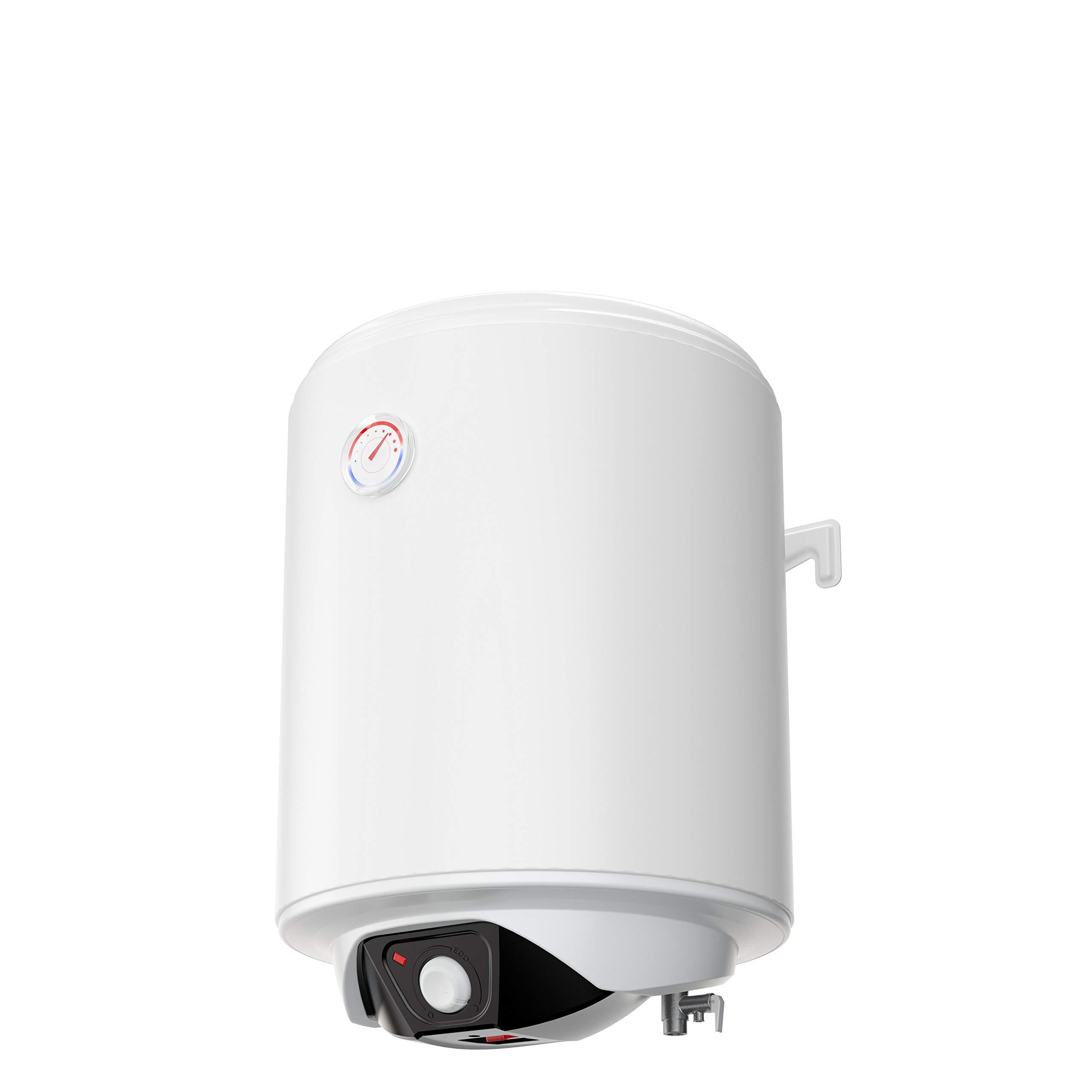 eldom SV05044 Spectra 50 Liter Warmwasserspeicher 1,5 kW. manuelle Steuerung 50, 230 V, White