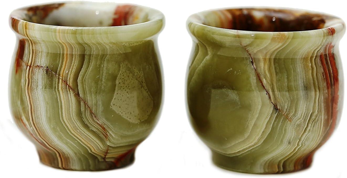 Shot Glasses Sake Cups trust Green Onyx Marble Tequil Bourbon Handmade Genuine