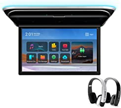 XTRONS Android Car Overhead Player 17.3 Inch Wide IPS Screen 8K Video Car Roof Mount Monitor Built-in Stereo Speakers Flip...