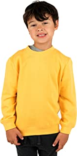 Kids & Toddler Sweatshirt Boys Girls Long Sleeve Shirt Variety of Colors (Size 2-14 Years)