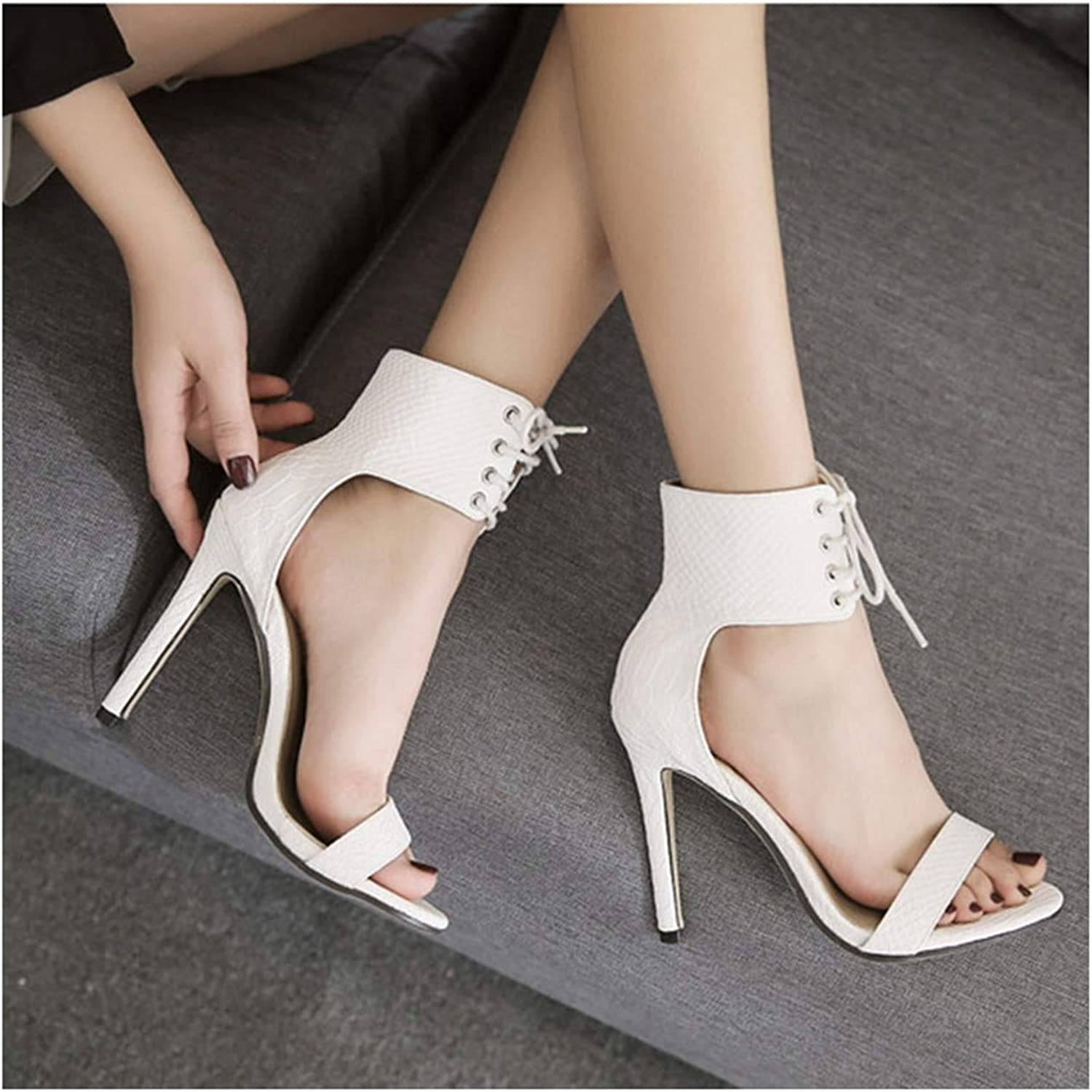 Summer Woman Sandals Pumps Thin Air Heels Super High-Heeled Open Toe Sexy Stiletto Party Pumps