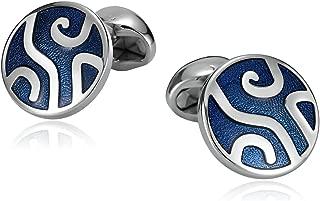 316L Stainless Steel Cufflinks for Men, Mens Cufflinks, Round Pattern Engraved, Business Wedding Shirt