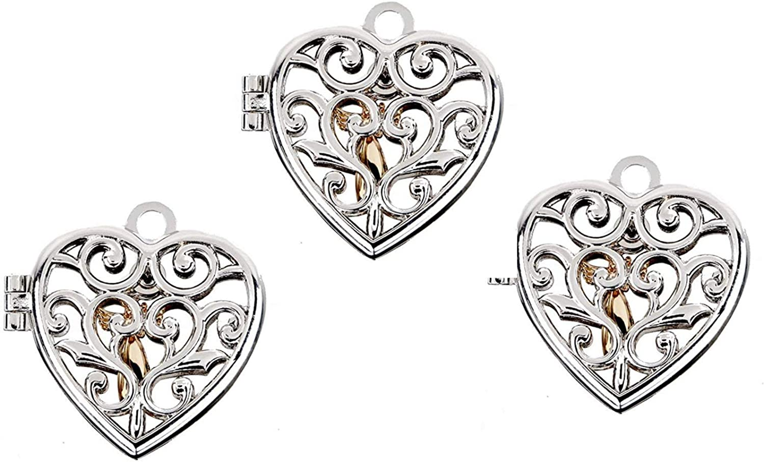 Ganz Guardian Angel of Limited time for free shipping Love Locket - 3 Heart Set Now free shipping