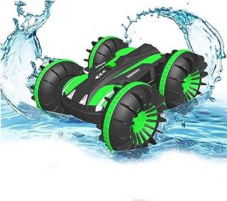 هدایای Pussan برای پسران 6 تا 10 ساله ماشین کنترل از راه دور آبی خاکی برای کودکان و نوجوانان 2.4 گیگاهرتز RC Stunt Car for Girls Girls 4WD Off Road Monster Truck هدایای تولد کریسمس هدایای کنترل از راه دور قایق تابستانی ساحل اسباب بازی