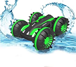 Pussan Gifts for 6-10 Year Old Boys Amphibious Remote Control Car for Kids 2.4 GHz RC Stunt Car for Boys Girls 4WD Off Roa...