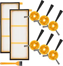 Mochenli 6 Brushes + 2 HEPA Filters for Shark ION Robot Vacuums RV700, RV720, RV750, RV750C, RV755, Side Brushes and Filters Accessories Replacement Parts Kit(Not Fit RV700_N,RV720_N,RV750_N)
