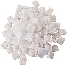 White Recyclable EPS Packing Peanuts by MT Products - (Approximately 0.60 Cubic Foot) (White - Standard)