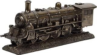 TreasureGurus, LLC Bronze Metal Steam Locomotive Model Die Cast Train Engine Replica