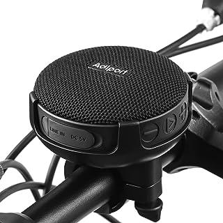 Adiport Bluetooth Fahrradlautsprecher, BT 5.0 Lautsprecher Fahrrad, Verbesserter Bass und lauter Sound, 10 Stunden Spielzeit, IPX7 Wasserdicht und Stoßfest für Outdoor Fahrten