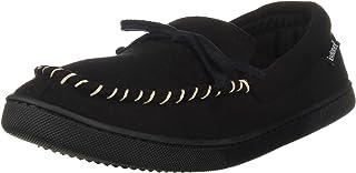 حذاء رجالي من isotoner من إسفنج ميموري بلاك بدون كعب مصنوع من الصوف الصناعي، مريح للاستخدام في الأماكن المغلقة/الهواء الطلق